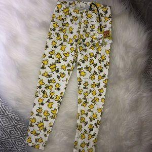 Woodstock leggings toddler girl 3T yellow glitter